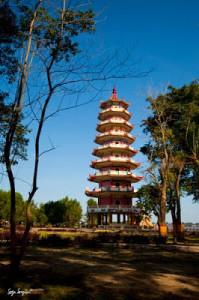 wisata pagoda pulau kembang palembang