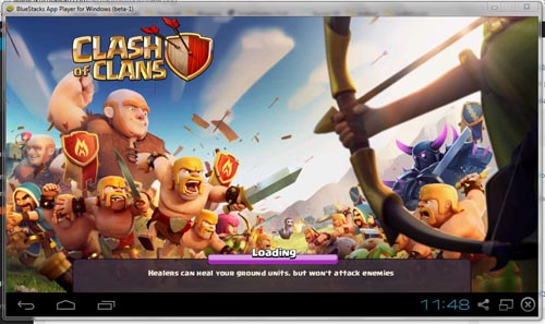 Main game Clash Of Clans di BlueStacks