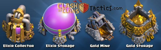 Mencari gold elixir di clash of clans