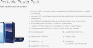 spesifikasi powerbank probox 7800
