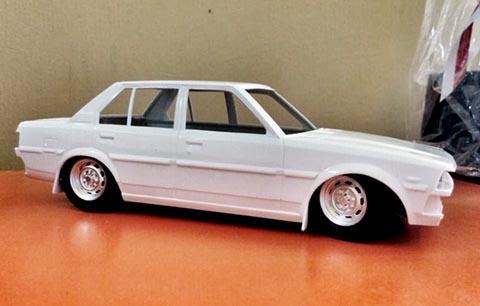 membuat ceper model kit mobil corolla dx