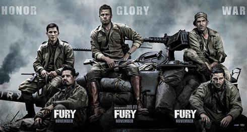 wallpaper poster cerita film Fury