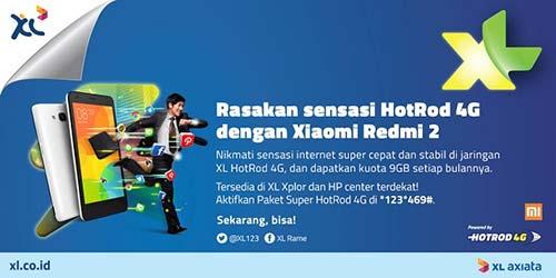 Paket XL 4G dan Redmi 2