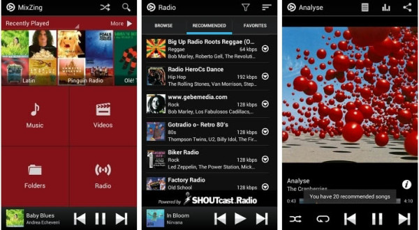 Pemutar Musik MixZing Android