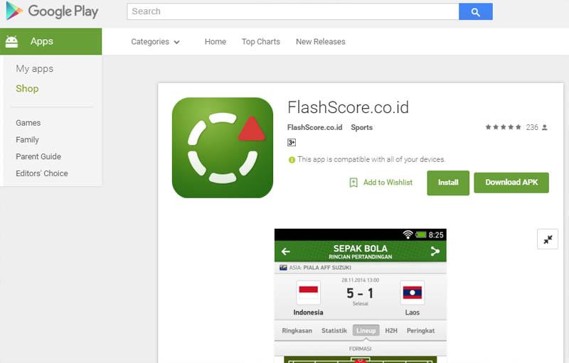Aplikasi Live Score Terbaik
