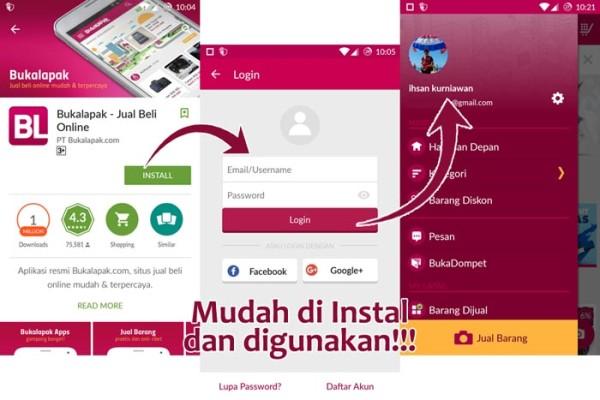 Cara Install Aplikasi BukaLapak Android
