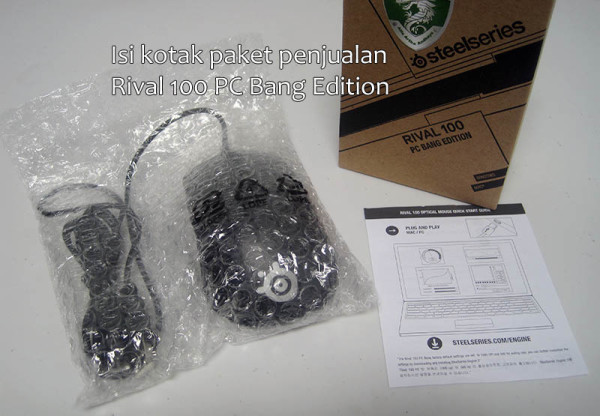 Isi Paket Unboxing Steelseries Rival 100 PC Bang