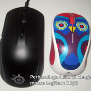 Perbandingan ukuran mouse steelseries Rival 100