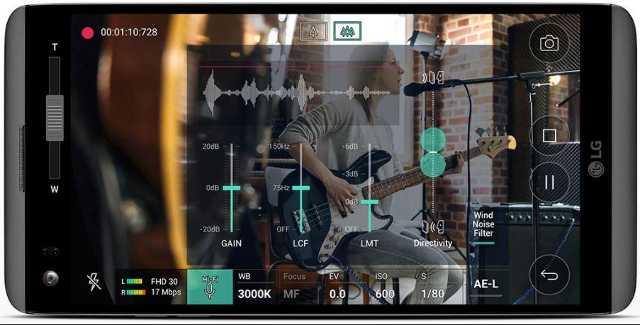 Fitur rekam video LG V20 Super Lengkap
