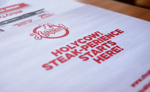 Menu Holycow Steakhouse