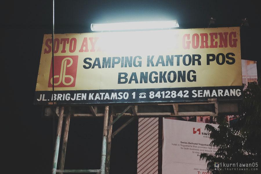 Tempat Makan Soto Bangkong Kantor Pos Semarang