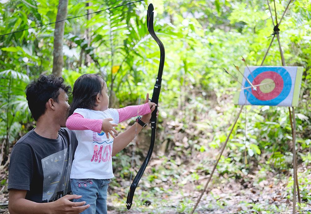 Belajar Panahan di Pasar Tahura Lampung