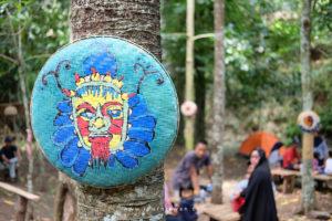 Ornamen ethnic di Pasar Tahura Lampung