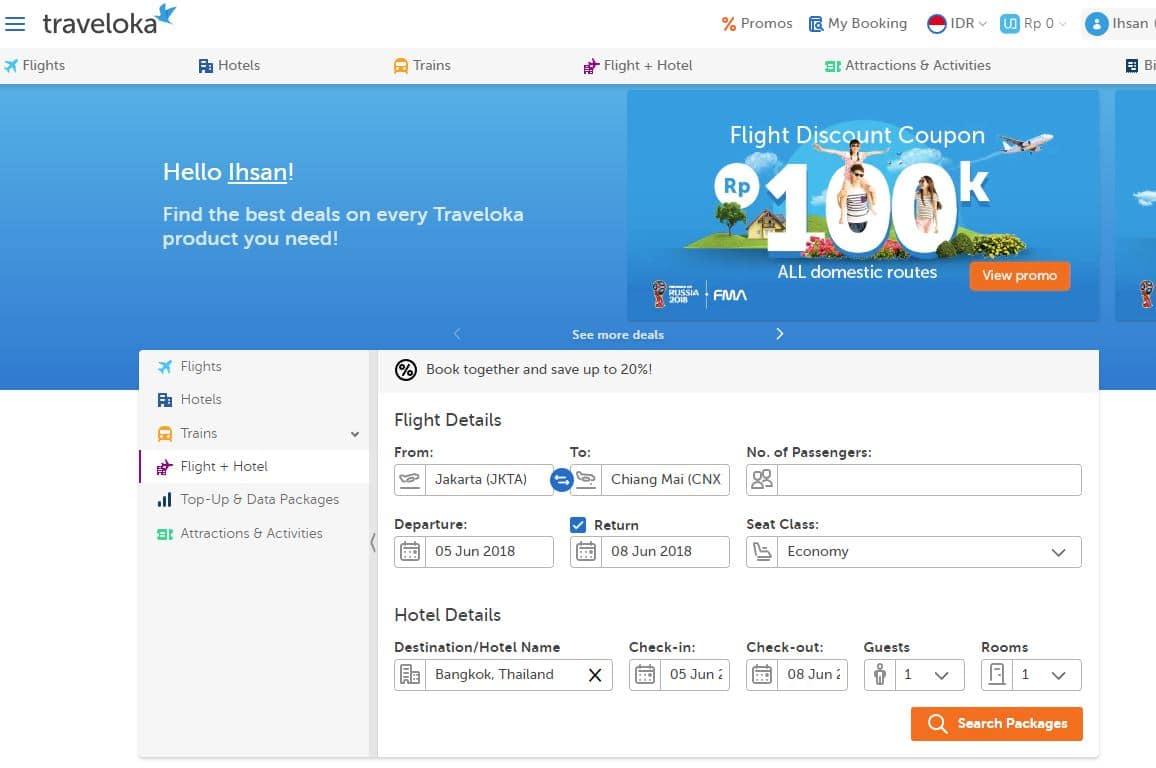 Paket wisata tiket hotel thailand murah