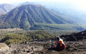 Istirahat di gunung semeru