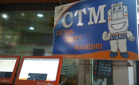 Cetak Tiket Kereta Mesin CTM
