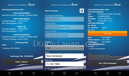 Aplikasi Tiket Kereta Android