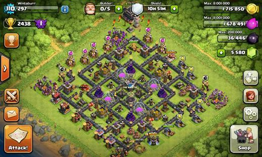 tips farming base coc TH 9
