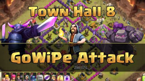 Serangan War Clash of Clans TH8 GoWiPe