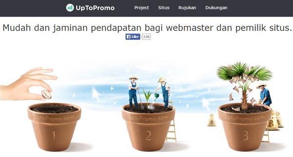 blog menghasilkan uang dengan uptopromo