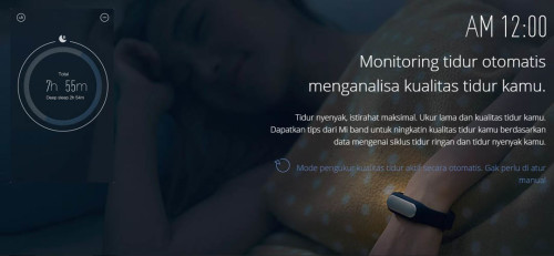 Fungsi Xiaomi Mi Band Merekam Kualitas Tidur