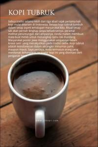 Mengenal Kopi Tubruk khas Indonesia