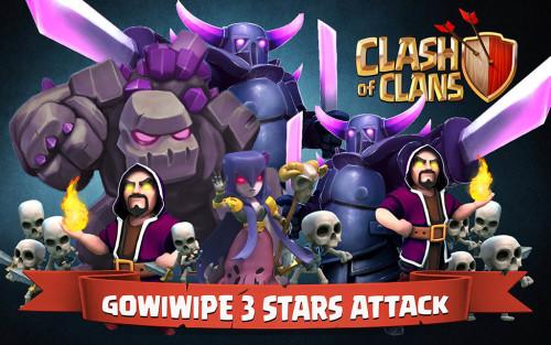 Strategi Serangan Darat Clash of Clans TH 9 Kombinasi Pasukan GoWiWiPe