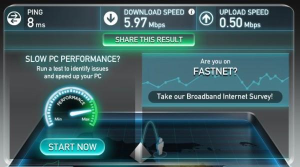 Speedtest Koneksi Fastnet First Media Surabaya