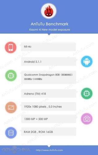 Skor Antutu Ponsel Xiaomi Mi 4c