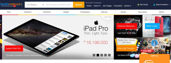 Belanja Online di JakartaNotebook