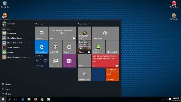 Start Menu Cortana Windows 10 Error