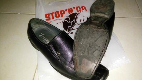 hasil biaya perbaikan sepatu di stop n go