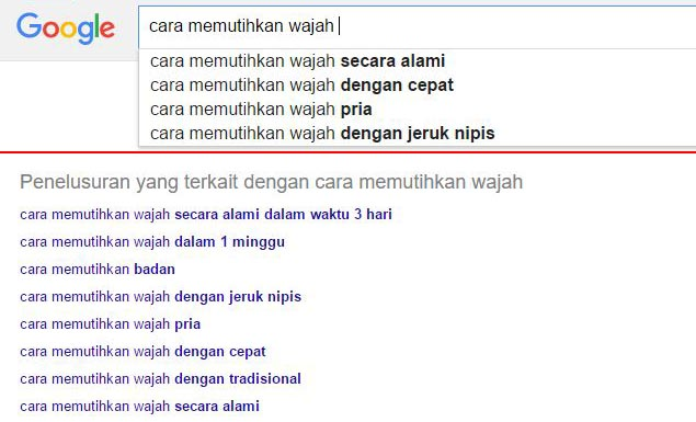Keyword Suggestion Hasil Pencarian Google