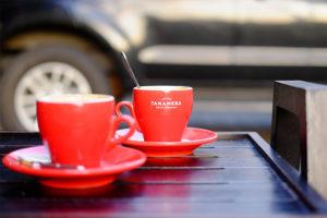 Gelas Cangkir Merah Khas Tanamera Coffee
