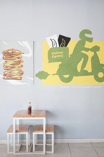 Desain interior kafe pizza bandar lampung