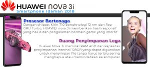 Harga dan Spesifikasi Huawei Nova 3i Indonesia