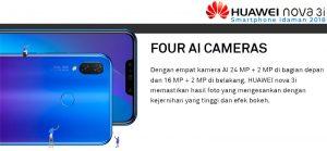 Huawei Nova 3i Manfaat AI Cameras