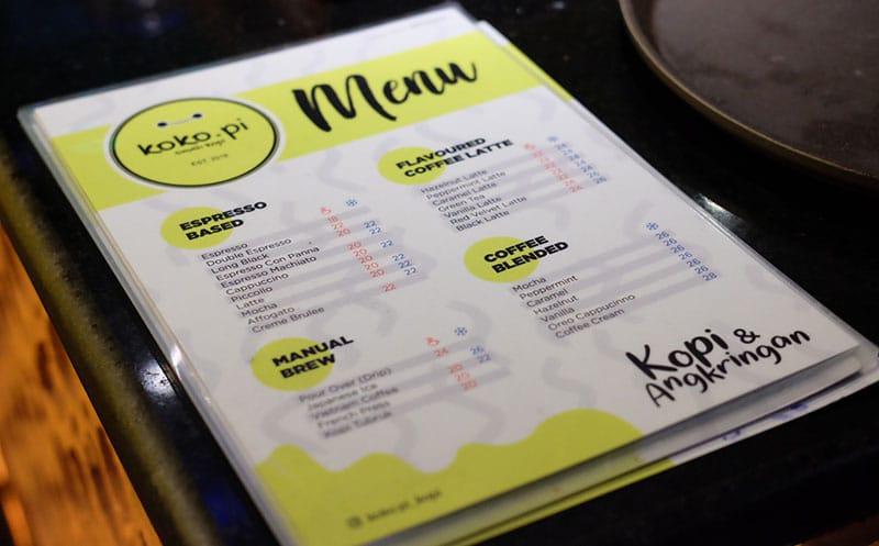 Pilihan Menu Minuman Kopi di Kokopi Cafe