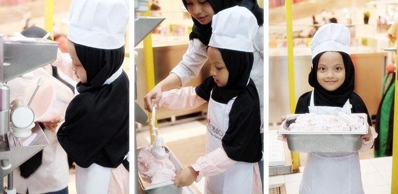 Cara Membuat Es Krim Gelato Strawberry Mudah